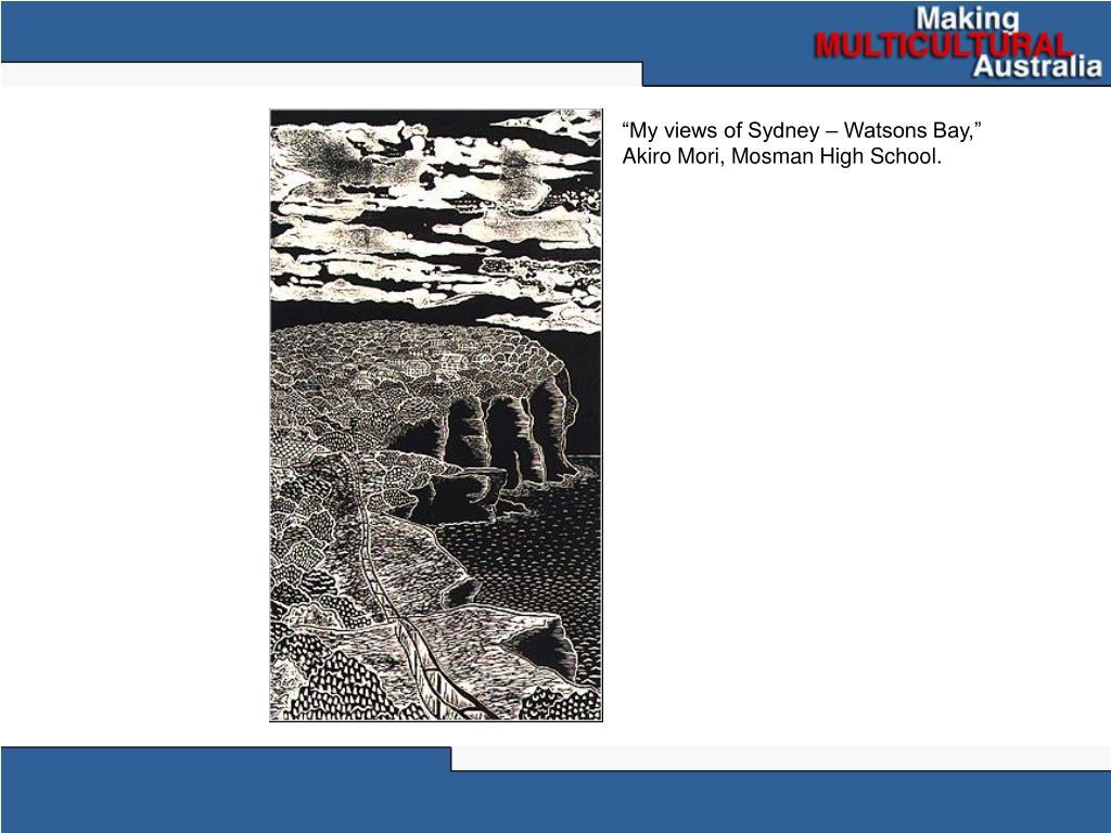"""My views of Sydney – Watsons Bay,"" Akiro Mori, Mosman High School."
