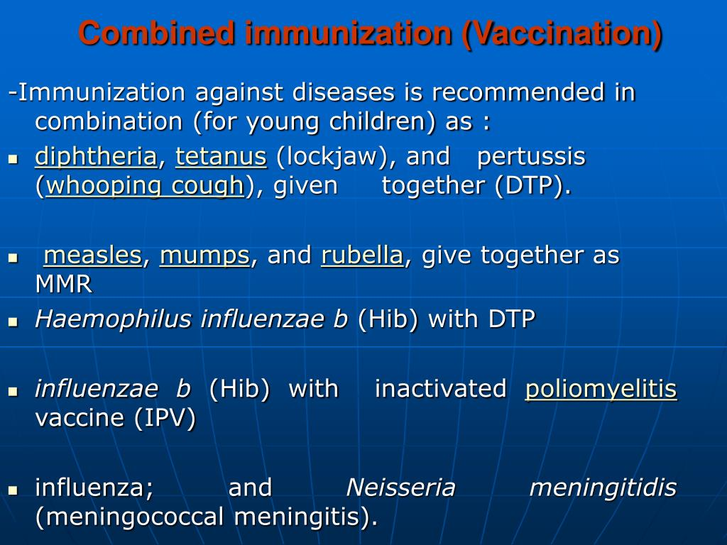 Combined immunization (Vaccination)