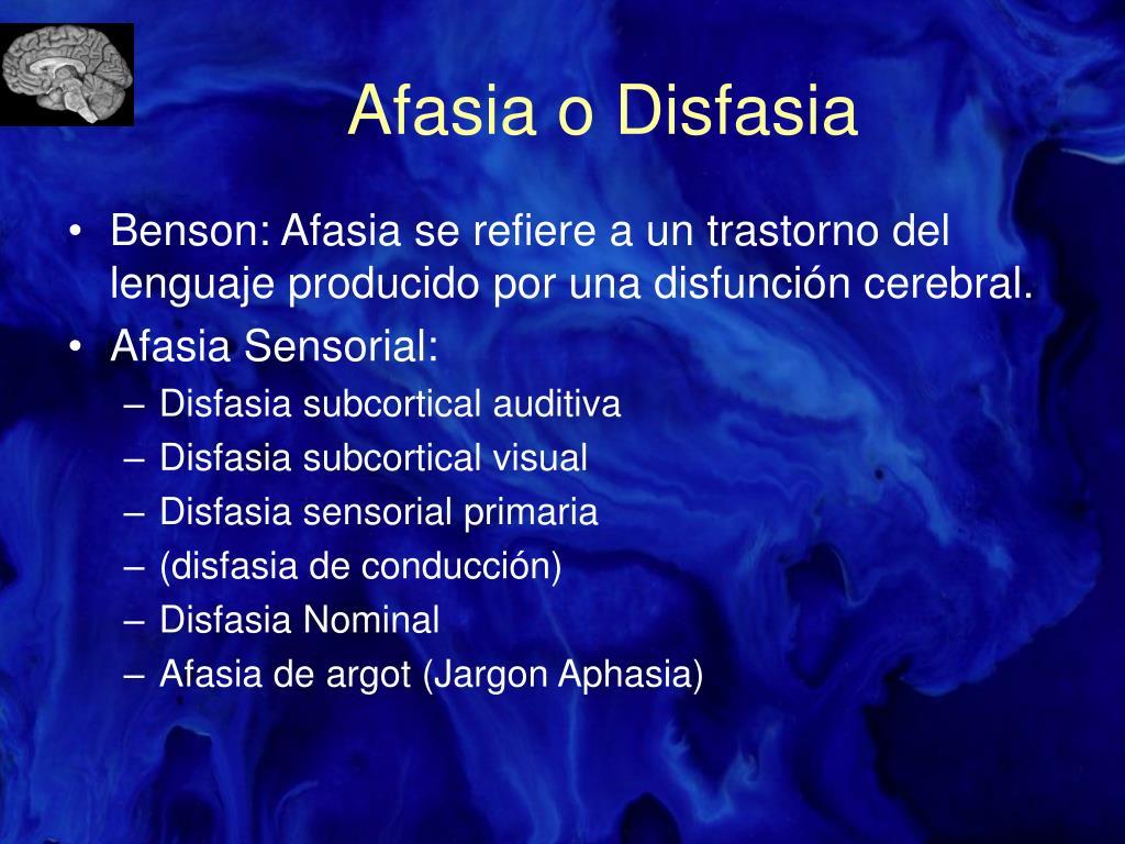 Afasia o Disfasia