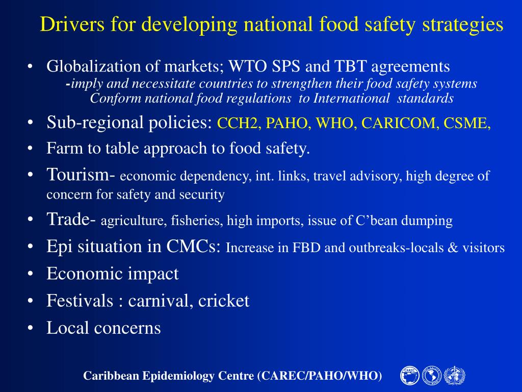 Drivers for developing national food safety strategies