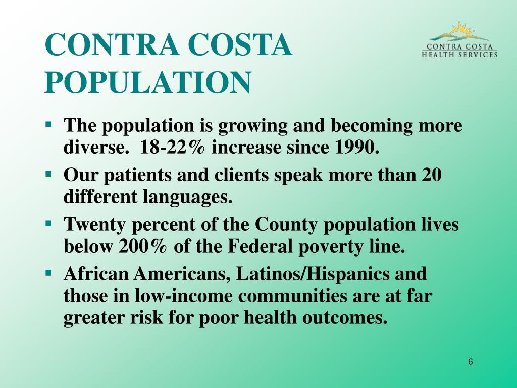 CONTRA COSTA POPULATION