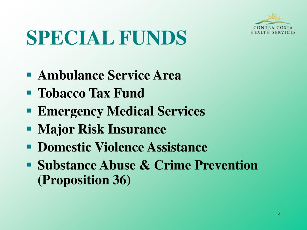 SPECIAL FUNDS