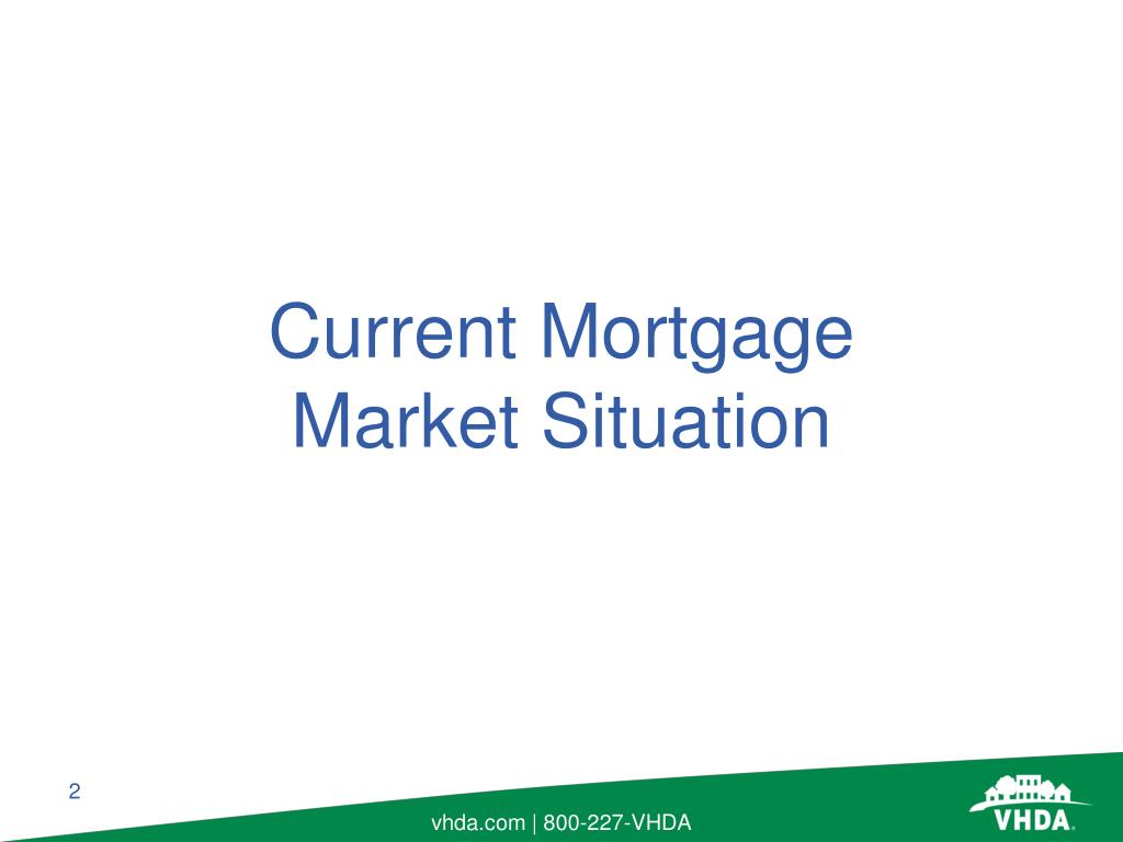 Current Mortgage Market Situation