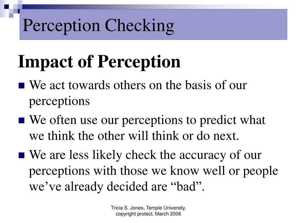 impact of perception