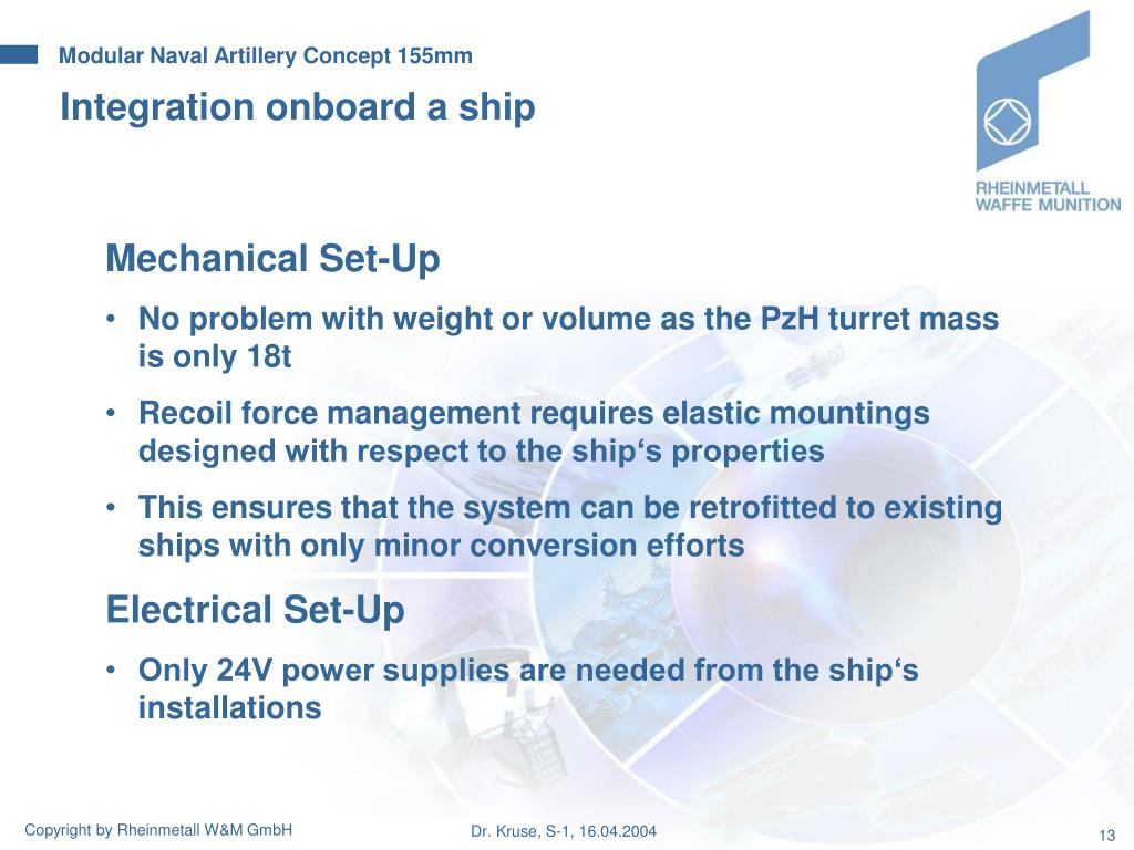 Integration onboard a ship