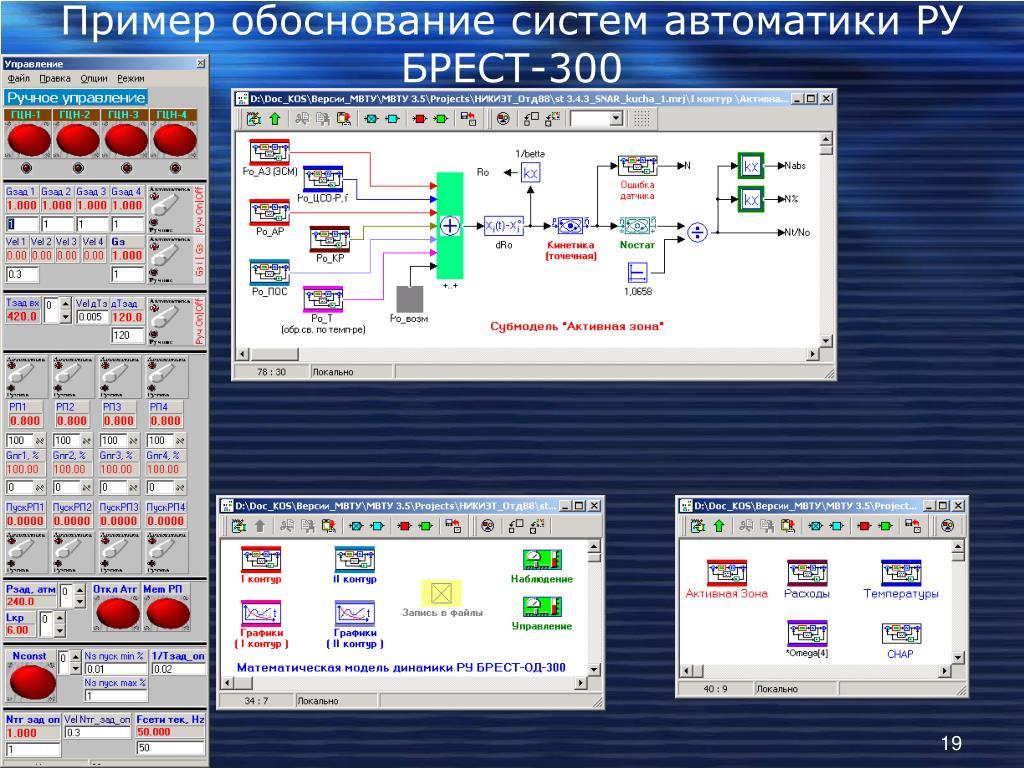 Пример обоснование систем автоматики РУ БРЕСТ-300