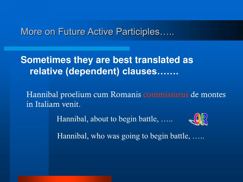 More on Future Active Participles…..