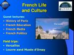 french life and culture