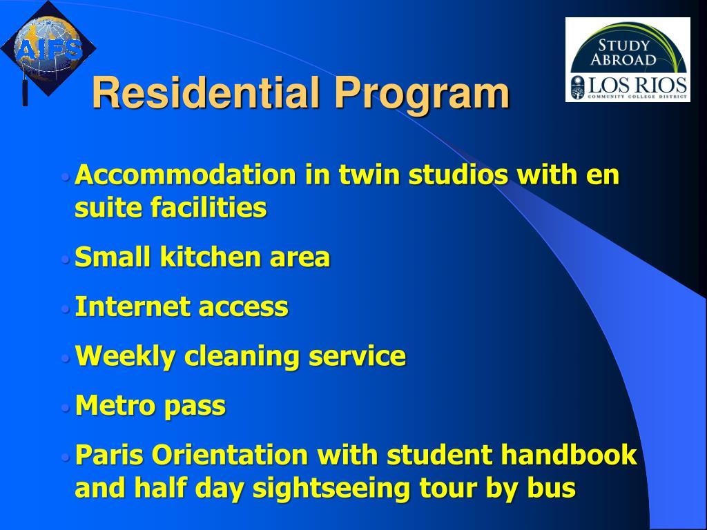 Residential Program