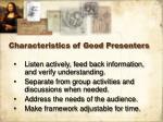 characteristics of good presenters8