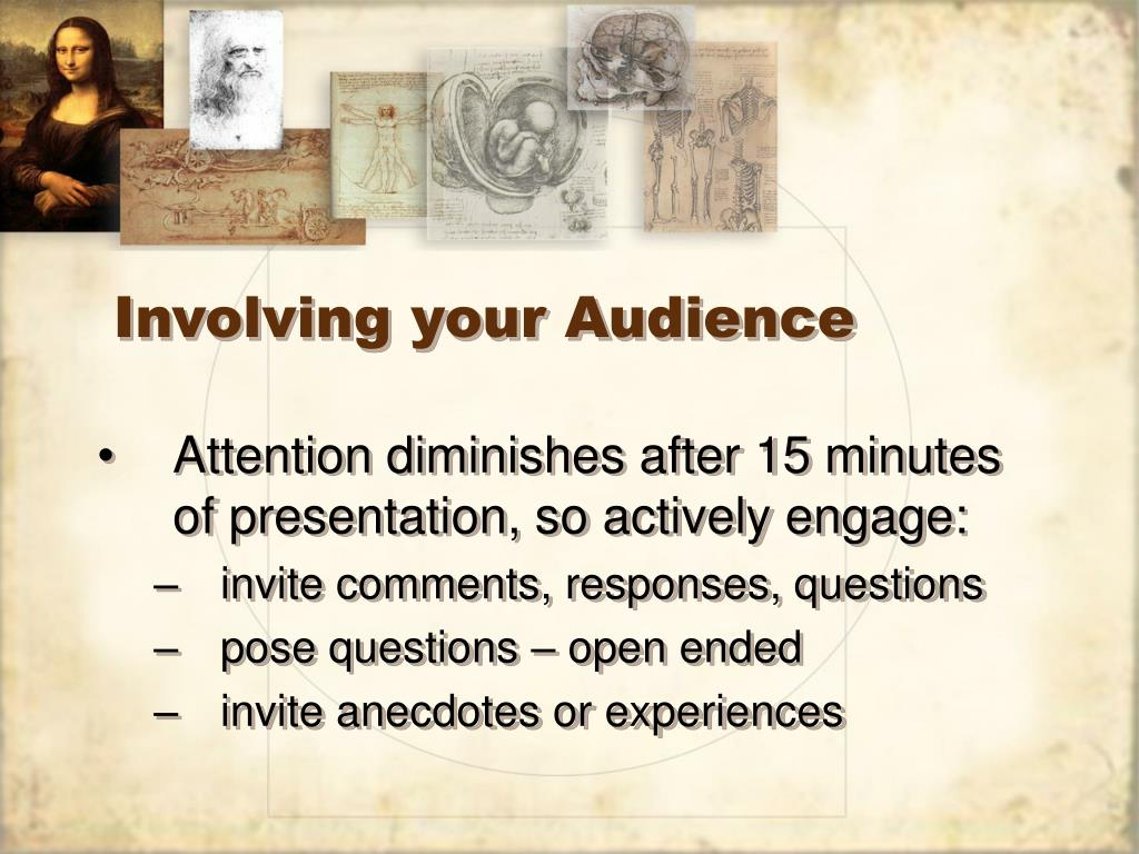 Involving your Audience