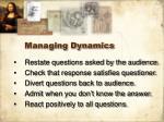 managing dynamics