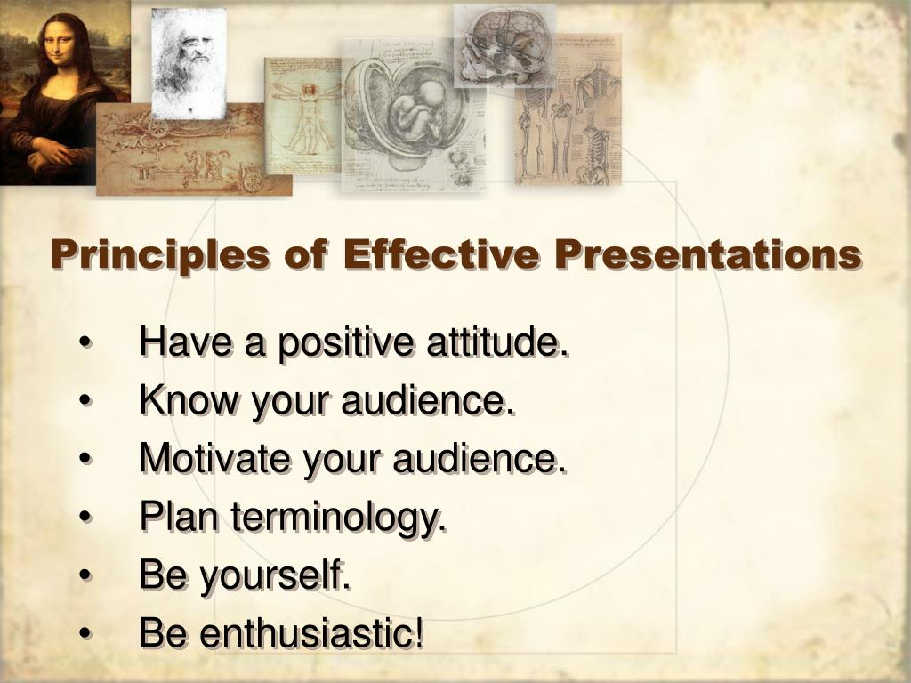 Principles of Effective Presentations