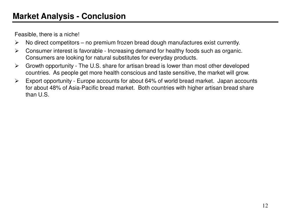Market Analysis - Conclusion