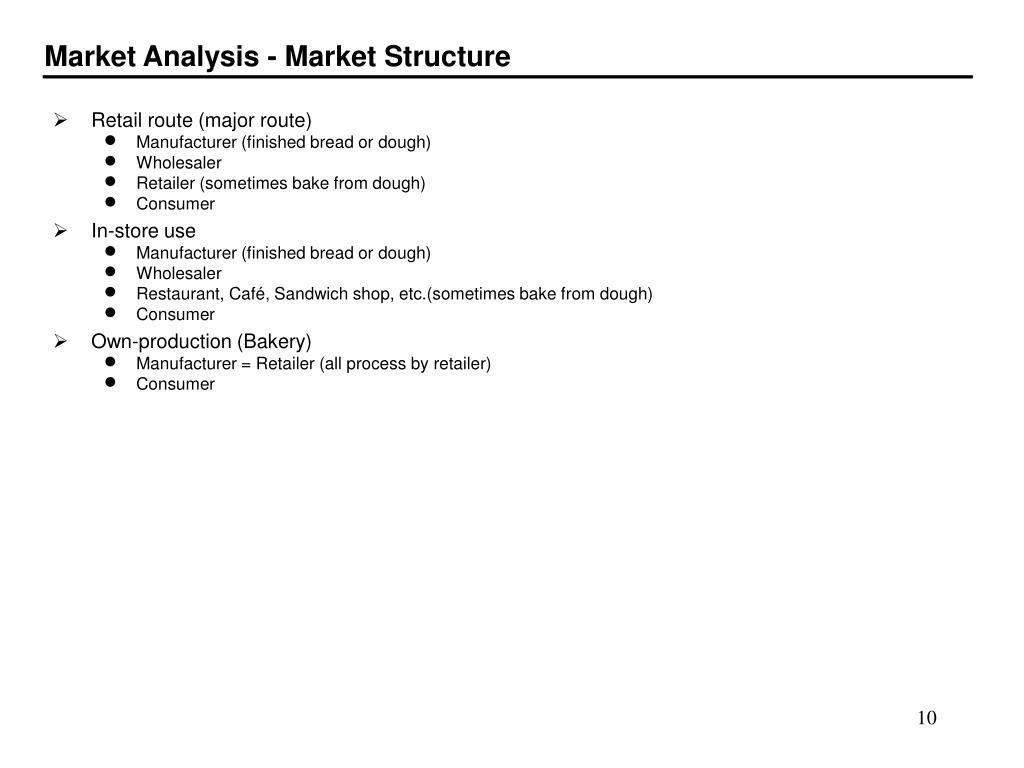 Market Analysis - Market Structure