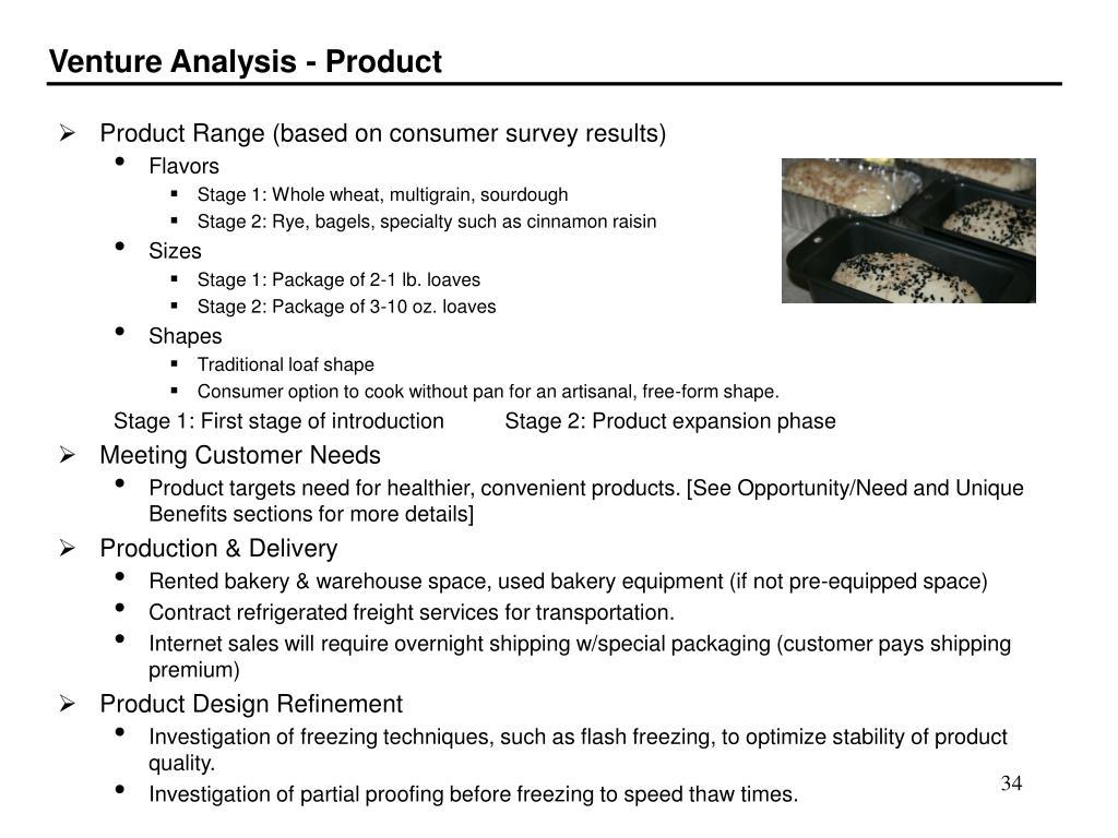Venture Analysis - Product