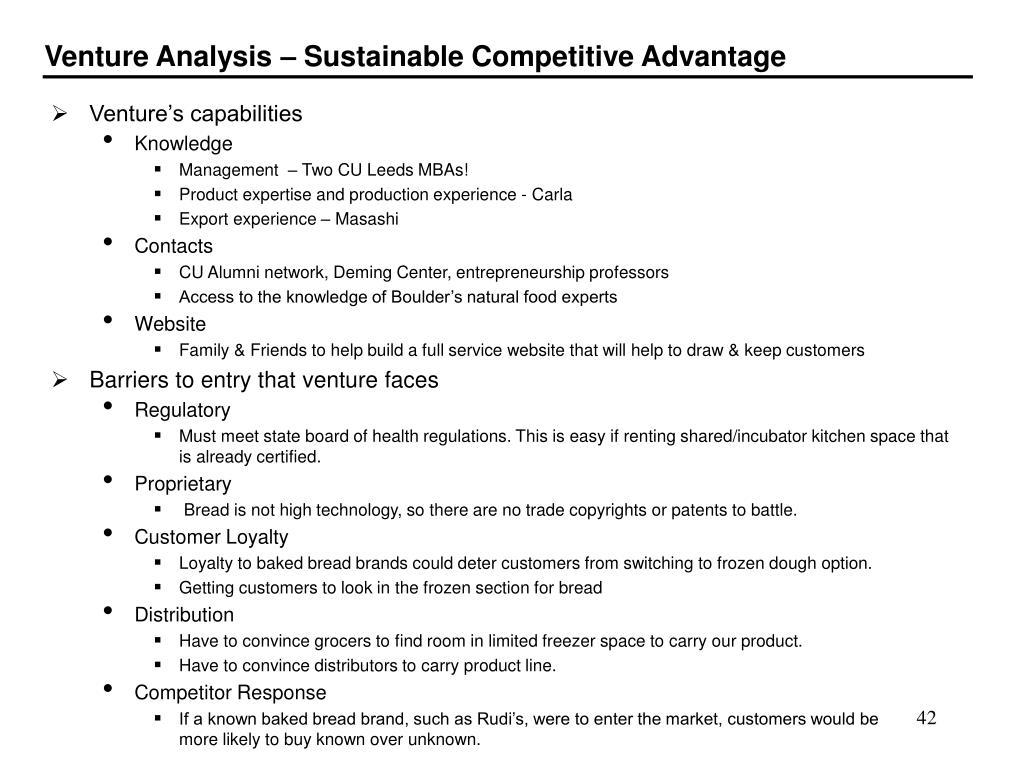 Venture's capabilities