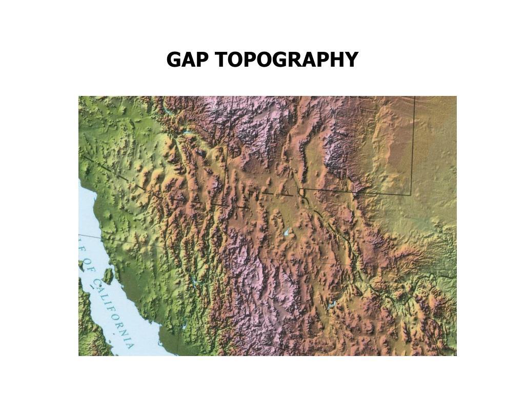GAP TOPOGRAPHY