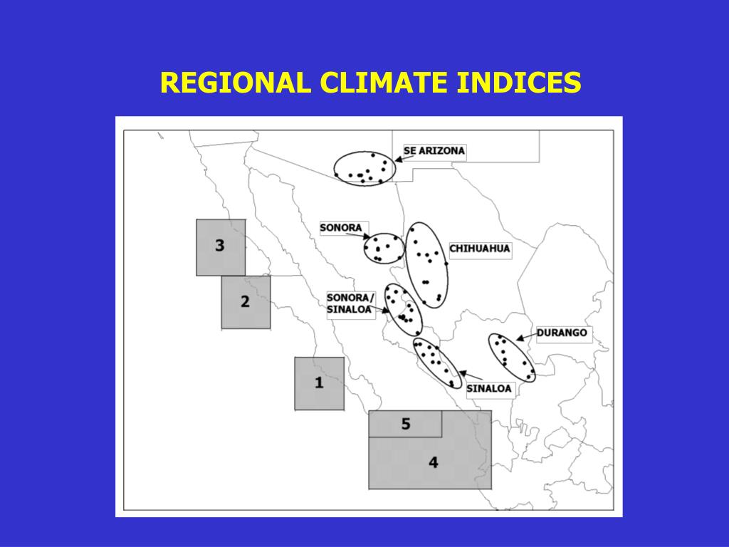 REGIONAL CLIMATE INDICES