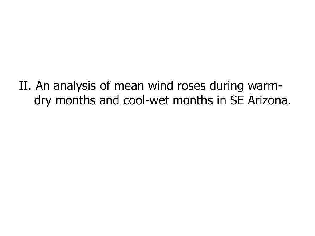 II. An analysis of mean wind roses during warm-