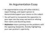 an argumentation essay