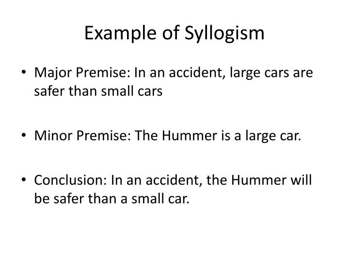 Example of Syllogism
