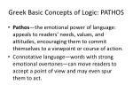 greek basic concepts of logic pathos
