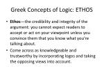 greek concepts of logic ethos