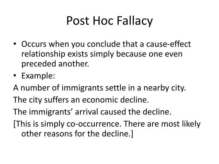 Post Hoc Fallacy