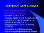 example a wands analysis
