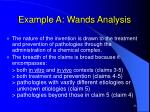 example a wands analysis21