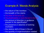 example a wands analysis22