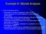 example a wands analysis23