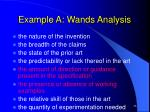 example a wands analysis24