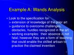 example a wands analysis25