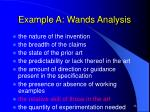example a wands analysis26