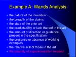 example a wands analysis28