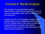 example a wands analysis29