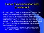 undue experimentation and enablement13