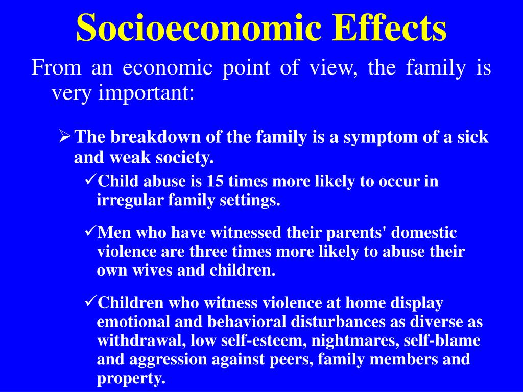 Socioeconomic Effects
