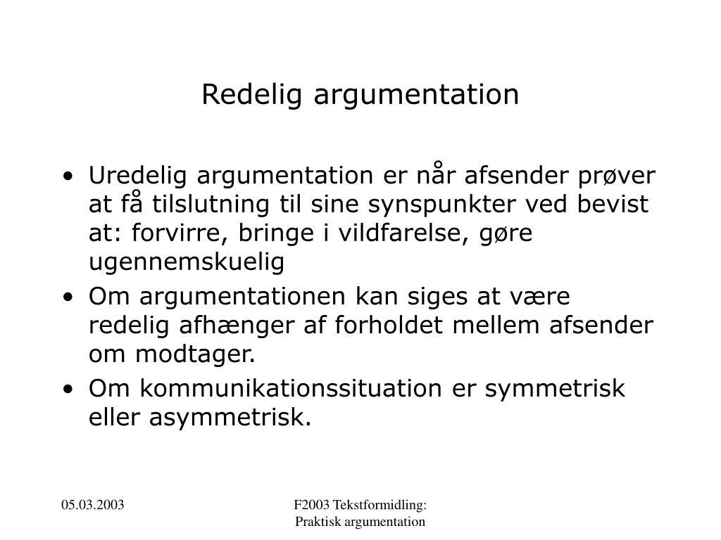 Redelig argumentation