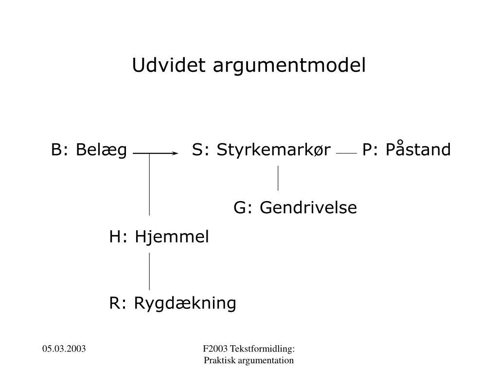 Udvidet argumentmodel
