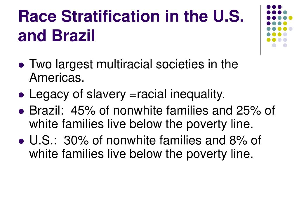 Race Stratification in the U.S. and Brazil