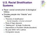 u s racial stratification systems