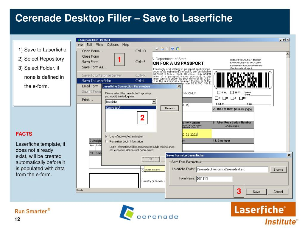 Cerenade Desktop Filler – Save to Laserfiche