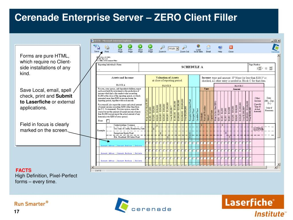 Cerenade Enterprise Server – ZERO Client Filler