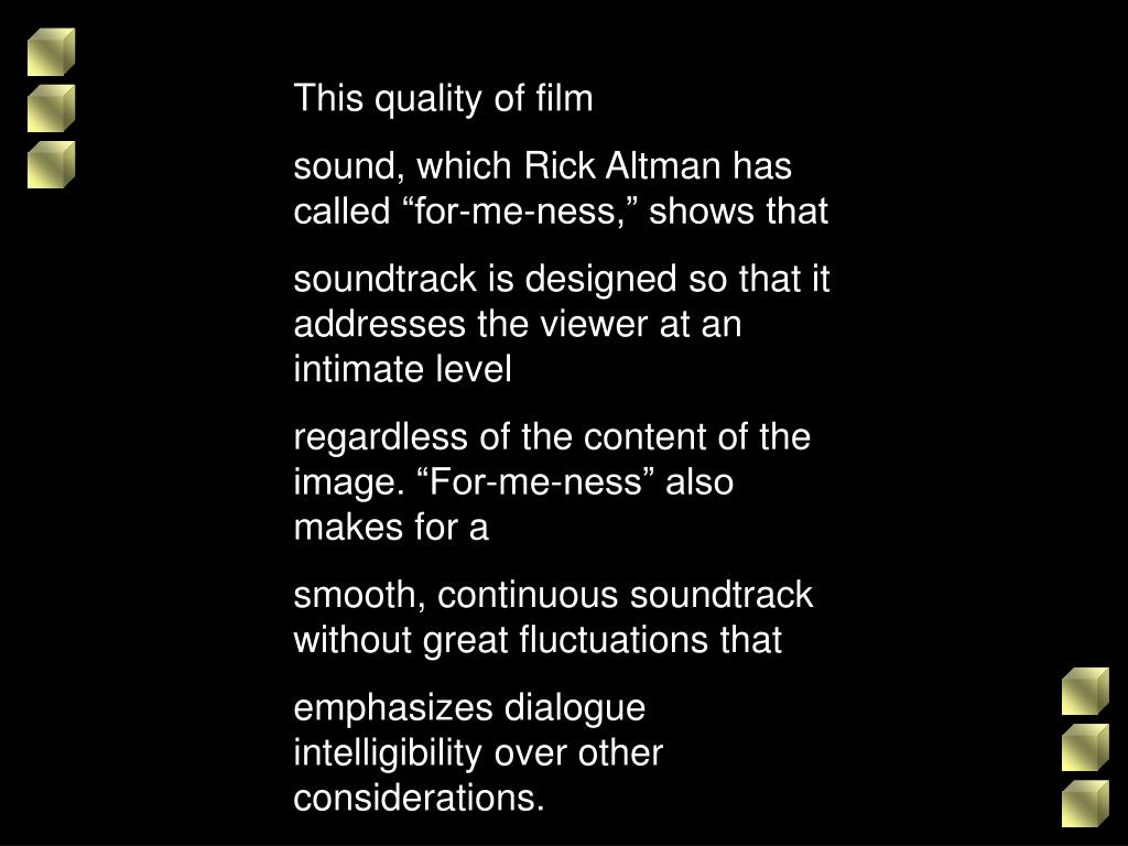 This quality of film