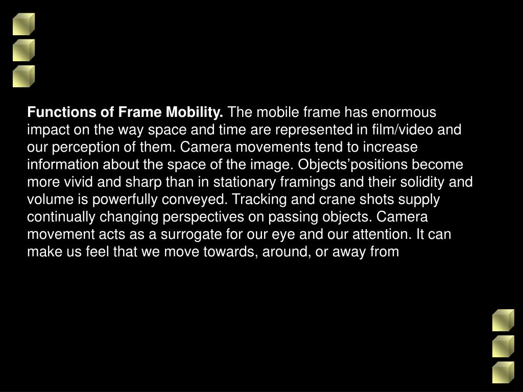 Functions of Frame Mobility.