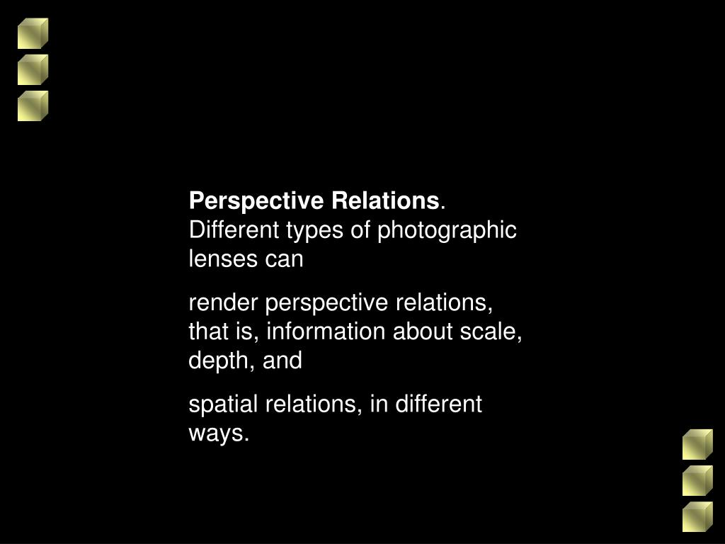 Perspective Relations