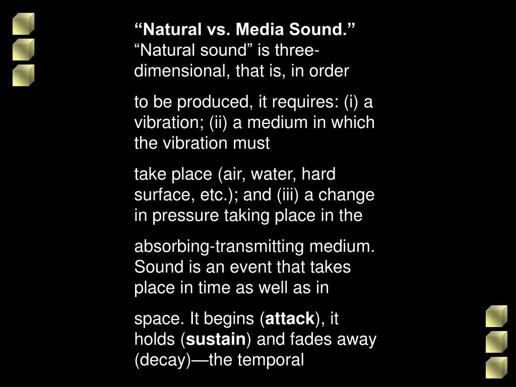 """""""Natural vs. Media Sound."""""""